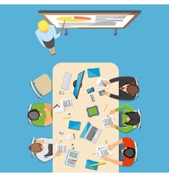 Professions top view composition vector