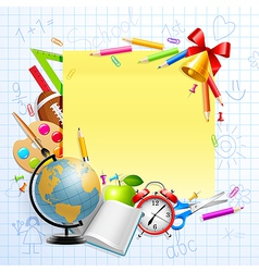 stationery and objects vector image
