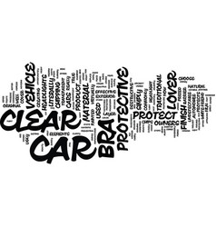 The m clear bra a car lover s dream come true vector