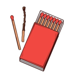 Top view red matchbox vector image vector image