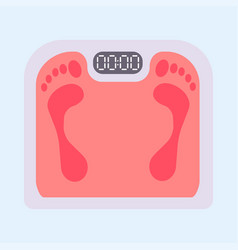 weight scale healthy balance measure dieting body vector image