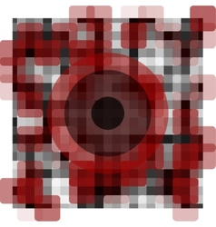 abstract pattern with an eye in the middle vector image