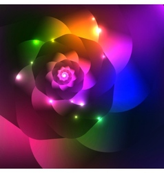 Abstract shiny spiral bright background vector image