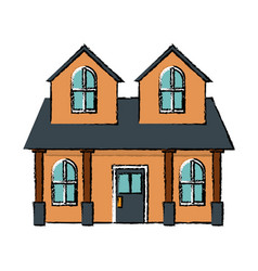 house home classic real estate exterior vector image