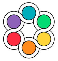 logo palette of colors circuits of the spinner vector image vector image