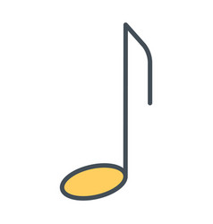music note thin line icon pictogram vector image vector image