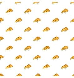 Slice of pizza pattern cartoon style vector image