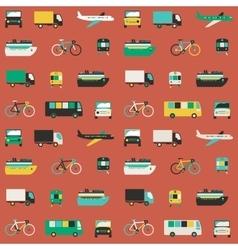 Transportation seamless pattern vector image