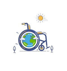 whellchair or invalid disabled flat vector image vector image