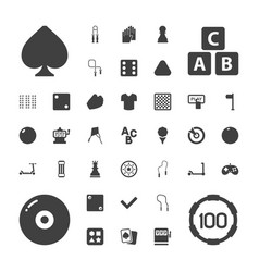 37 game icons vector