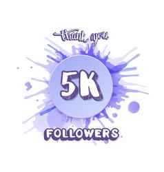 5k followers thank you social media post vector