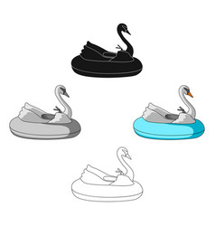 A boat for children in shape a swan vector