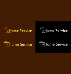 a set of logos for home care and real estate sales vector image
