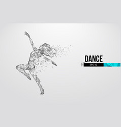 Abstract silhouette a wireframe dancing woman vector