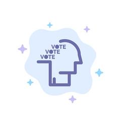 Ballot election poll referendum speech blue icon vector