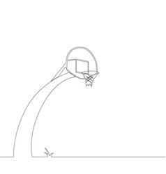 basketball hoop on white background vector image