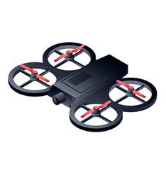 black drone icon isometric style vector image