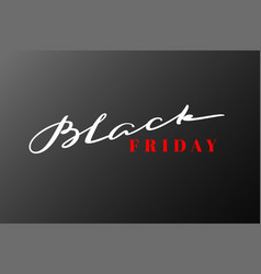 black friday lettering hand drawn calligraphy vector image