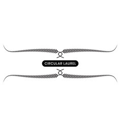 Black laurel wreath with a white background vector