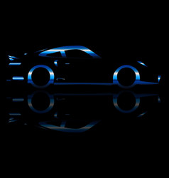 Blue flash fast car vector