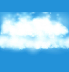 blue sky realistic blur design abstract shining vector image