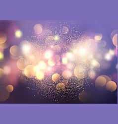 Bokeh lights and glitter background vector