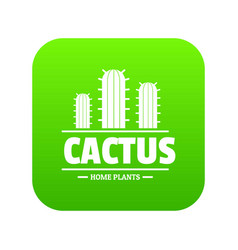 botany cactus icon green vector image