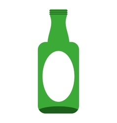 bottle glass wine icon vector image