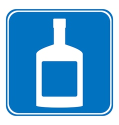 Bottles of cognac sign is allowed to drink vector