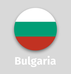 bulgaria flag round icon vector image