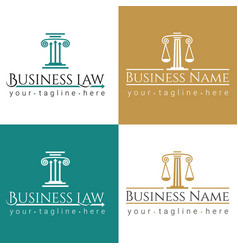 Business law logo column vector