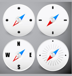 Compass icon dial needle on dial positioning vector