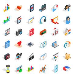 design icons set isometric style vector image