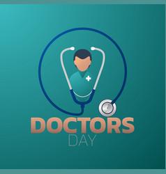 Doctors day icon design medical logo vector
