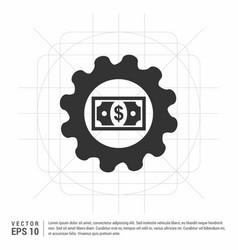 Dollar gear icon vector