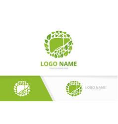 Eco liver and leaves logo premium internal organ vector