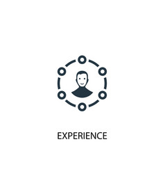 Experience icon simple element vector