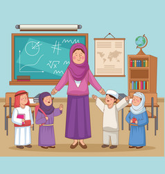 Female teacher character vector