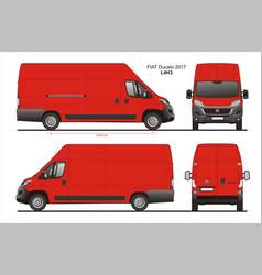 Fiat ducato cargo delivery van 2017 l4h3 vector