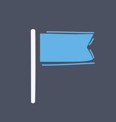 flag icon on dark vector image