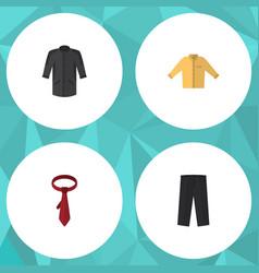 Flat icon dress set of cravat banyan uniform and vector
