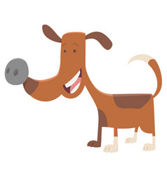 Funny spotted dog cartoon vector