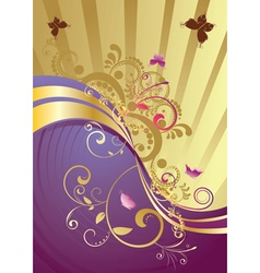 Golden Floral Background3 vector