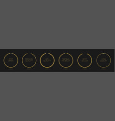 golden wreath icons vector image