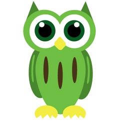 Green owl vector