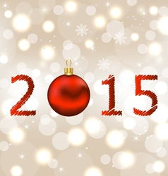 Happy new year shimmering background vector image