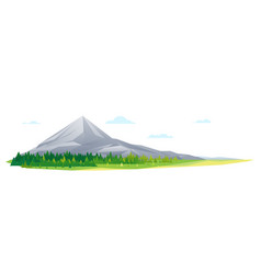 high mountain in forest nature landscape isolated vector image