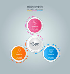 Infographic design business concept with 3 options vector
