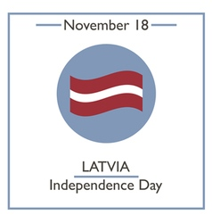 Latvia Independence Day vector image