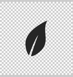 leaf icon isolated on transparent background vector image